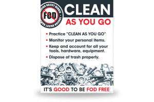 FOD Poster 22x28 Clean As You Go