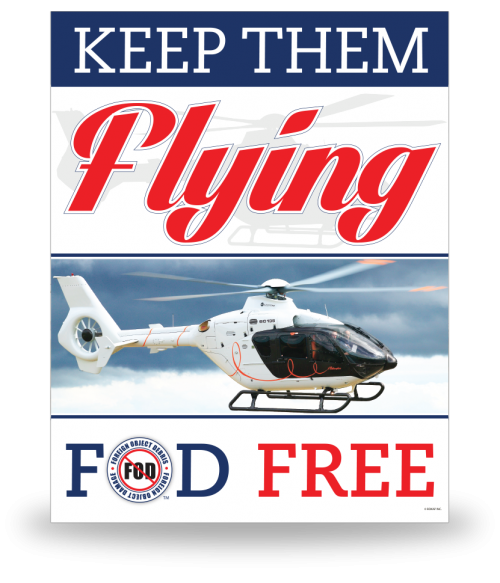 FOD Poster 22x28 Keep Them Flying - Style 4
