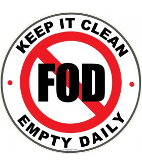 FOD Sticker 4 Keep It Clean