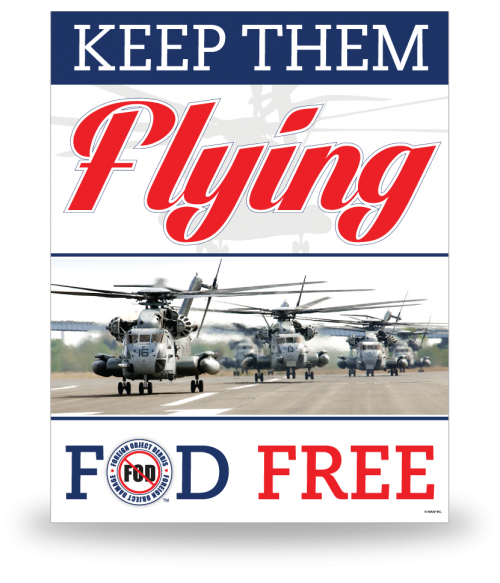 FOD Poster 22x28 Keep Them Flying - Style 2