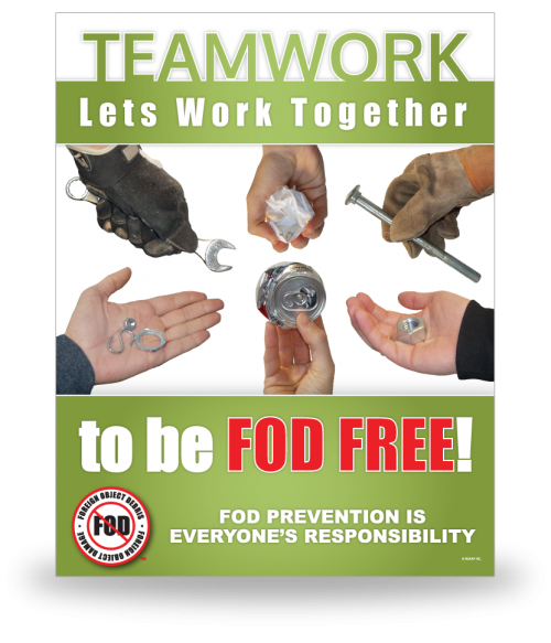 FOD Poster 22x28 Lets Work Together