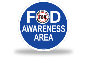 FOD Sign 1x1 Awareness Basic
