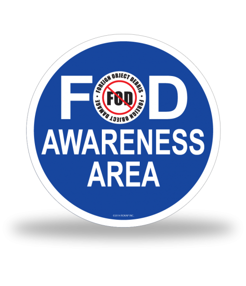 FOD Sign 12x12 Awareness Basic