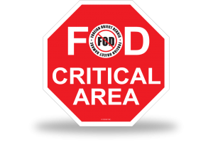 FOD Sign 1x1 Critical Basic