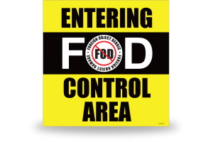 FOD Sign 1x1 Entering Control Area