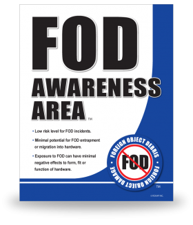 FOD Sign 11x14 Awareness General