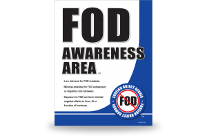 FOD Sign 11x14 Awareness General ( Replaced )