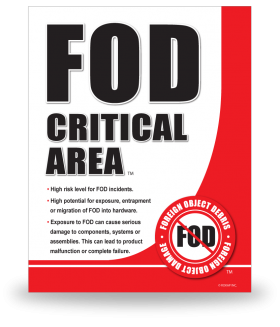 FOD Sign 11x14 Critical General