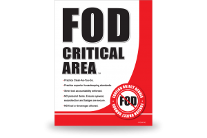 FOD Sign 11x14 Critical Area New - DiBond