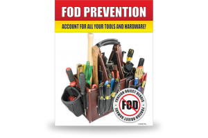 FOD Sign 11x14 Tools & Hardware - DiBond