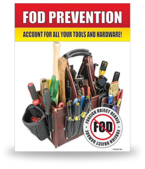 FOD Sign 11x14 Tools & Hardware
