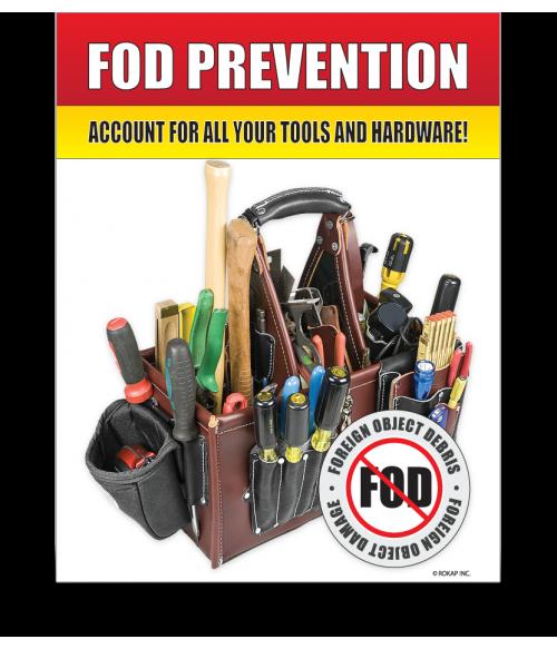 FOD Sign 11x14 Tools & Hardware