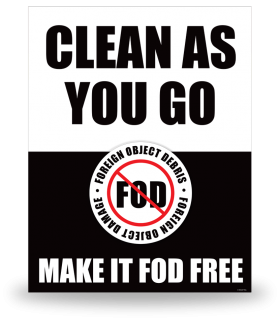 FOD Sign 11x14 Clean