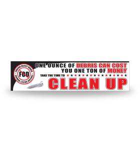 FOD Banner 2x8 Clean Up