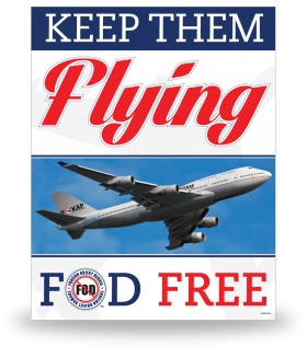 FOD Poster 22x28 Keep Them Flying - Style 1