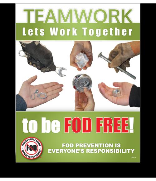 FOD Poster 22x28 Lets Work Together