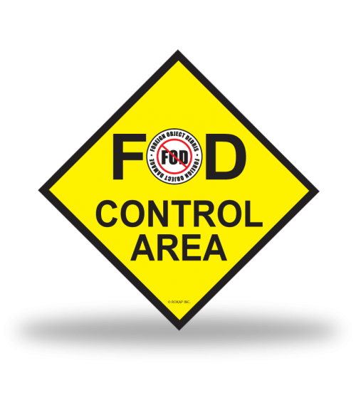 FOD Sign 12x12 Control Basic