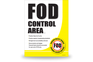 FOD Sign 11x14 Control Area New